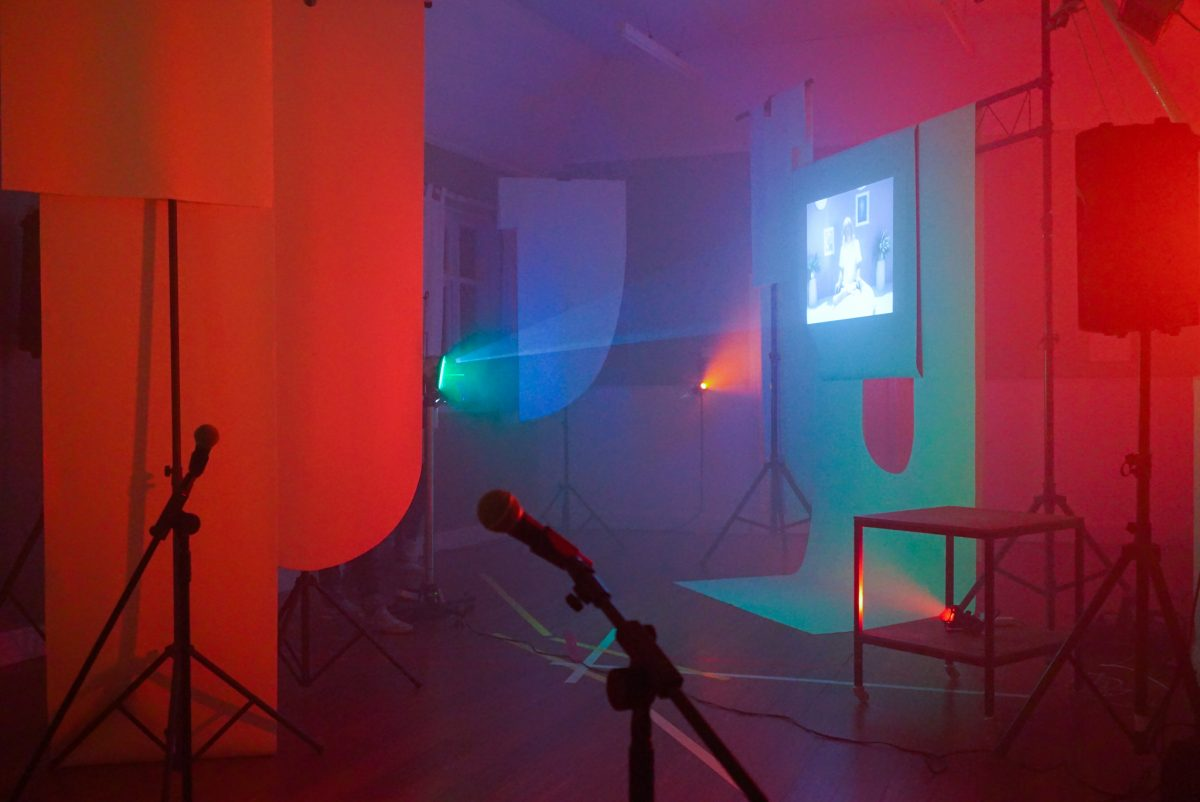 Eleanor Wright. Catcher Pressure Pusher (2016). Install View - World is Sudden: Part I at Berwick Film & Media Arts Festival. September 24 2016. Image courtesy of the artist and Giles Bailey & CIRCA Projects.
